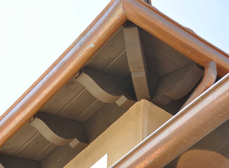 Raftertails corbels outlookers knee braces for Decorative rafter tails